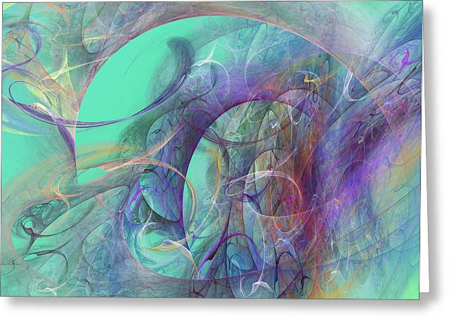 Purple Abstract Greeting Cards - Ocean Symphony I Greeting Card by Betsy C  Knapp