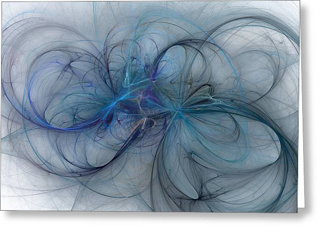 Subtle Colors Digital Greeting Cards - Ocean Threads Greeting Card by Betsy C  Knapp