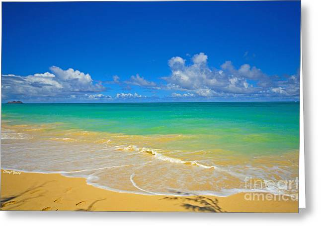Peaceful Images Greeting Cards - Ocean View Greeting Card by Cheryl Young