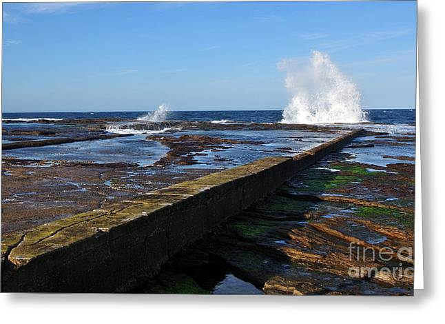 Ledge Greeting Cards - Ocean View Greeting Card by Kaye Menner
