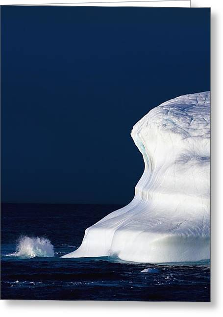 Arctic Ice Greeting Cards - Ocean Water Splashing Against An Greeting Card by Richard Wear