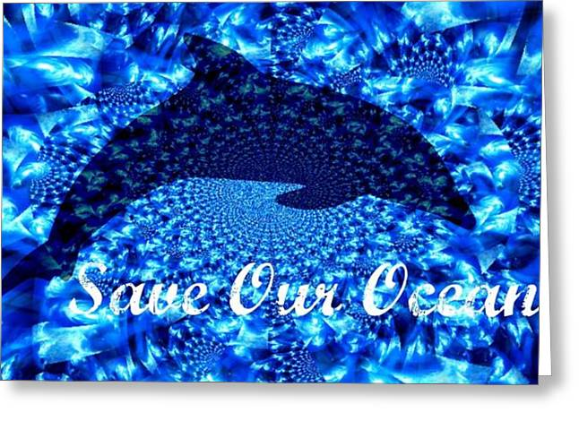 Save Our Water Greeting Cards - Ocean Waters Greeting Card by Amanda Eberly-Kudamik
