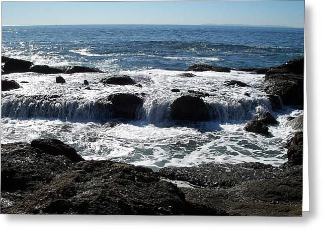 Ocean Photography Pastels Greeting Cards - Oceans End Greeting Card by Carey Davis