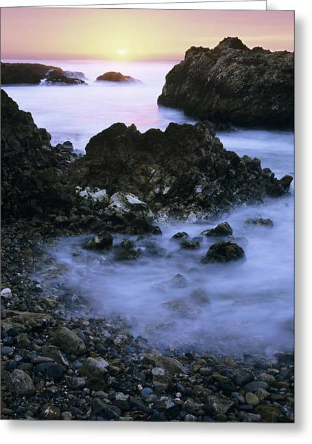 Foggy Beach Greeting Cards - Oceans Froth Greeting Card by Bill Brennan - Printscapes
