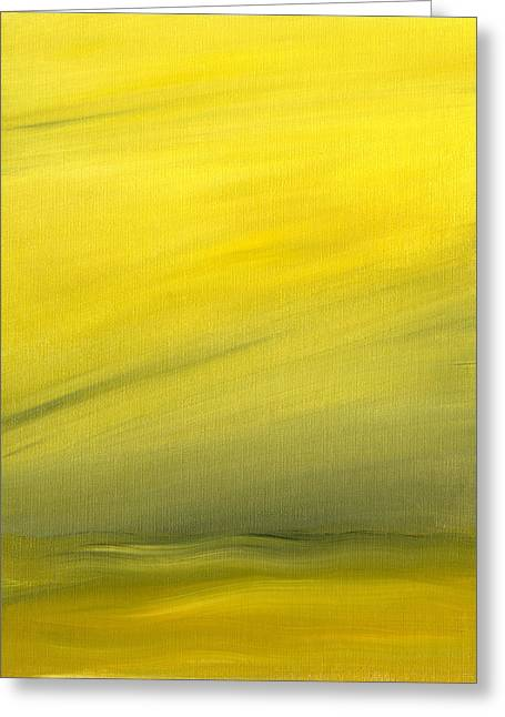Lightscapes Greeting Cards - Ochre Landscape Greeting Card by Hakon Soreide