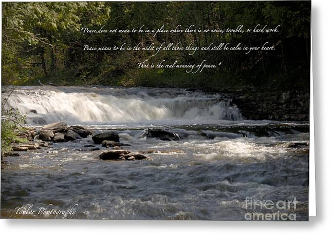 Michigan Jewelry Greeting Cards - Ocqueoc Falls Greeting Card by Melissa Huber