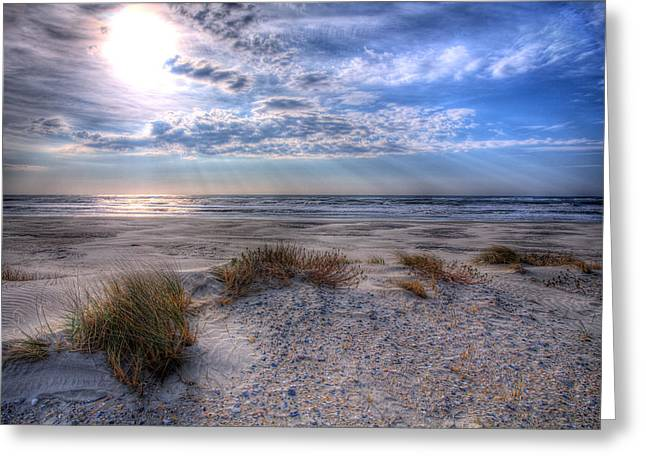 Best Sellers -  - Original Art Photographs Greeting Cards - Ocracoke Winter Dunes II Greeting Card by Dan Carmichael