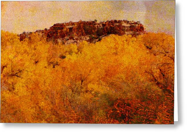 Fall Scenes Mixed Media Greeting Cards - October  Greeting Card by Ann Powell