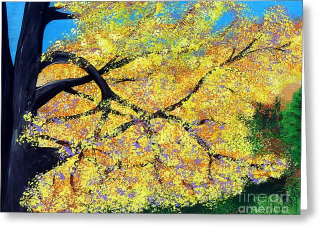 October Fall Foliage Greeting Card by Alys Caviness-Gober