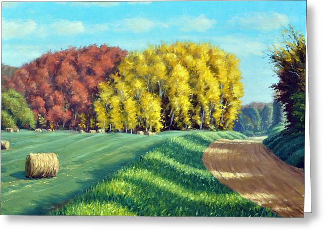 Plain Air Artist Greeting Cards - October Hay Greeting Card by Rick Hansen