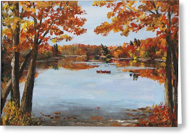 Best Sellers -  - Concord Greeting Cards - October Morn at Walden Pond Greeting Card by Jack Skinner
