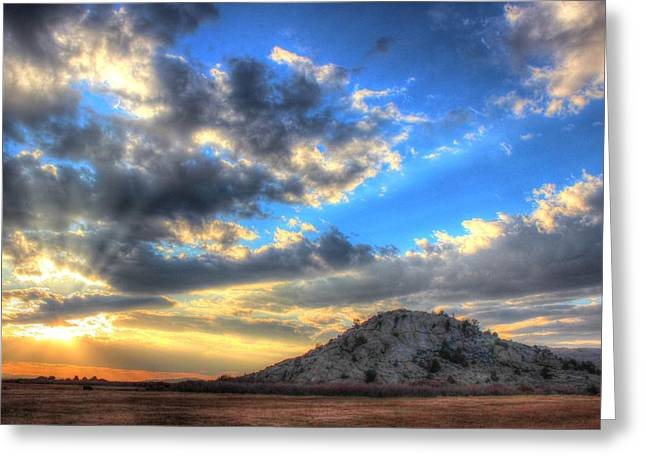 Sweetwater Greeting Cards - October Sunset Greeting Card by Vikki Correll