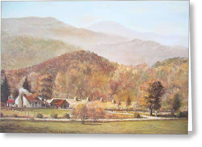 Smoky Paintings Greeting Cards - October Wonderland Greeting Card by Charles Roy Smith