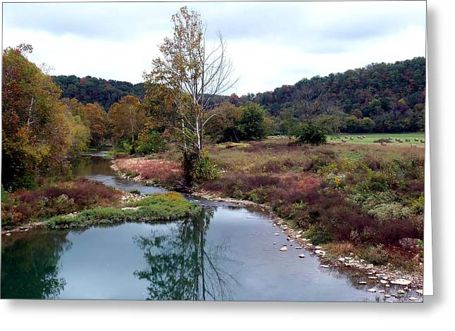 October's South Harpeth Greeting Card by Kay Sawyer