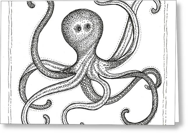 Squeeze Greeting Cards - Octopus Greeting Card by Stephanie Troxell