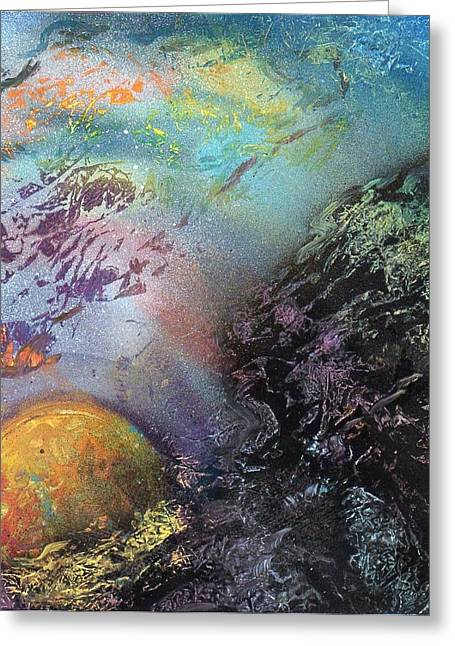 Limited Edition Mixed Media Greeting Cards - Odd planet   Greeting Card by Anna Randolph