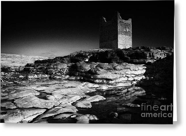 Abandonded Greeting Cards - Odowds Roslea Easkey Castle Roslee County Sligo Ireland Irish Greeting Card by Joe Fox