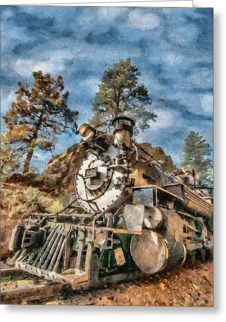 Durango Greeting Cards - Of Mountain and Machine Greeting Card by Jeff Kolker