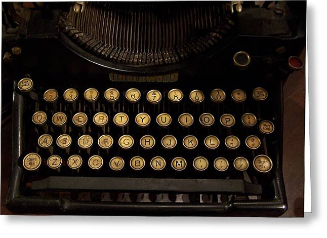 Typewriter Greeting Cards - Of Times Gone By Greeting Card by Ernie Echols