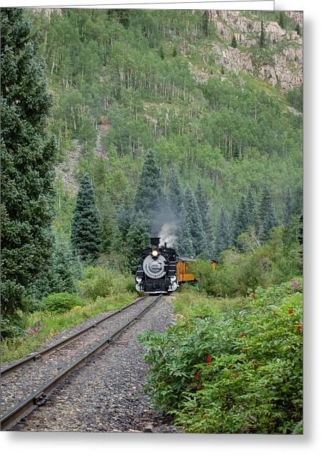 Narrow Gauge Steam Train Greeting Cards - Off in a Distance Greeting Card by Ken Smith