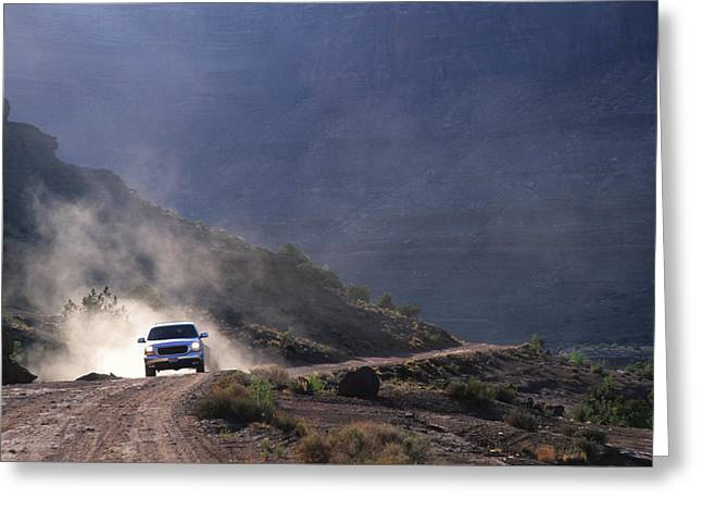 Four-wheel Greeting Cards - Off Road Enthusist On The White Rim Greeting Card by Bill Hatcher