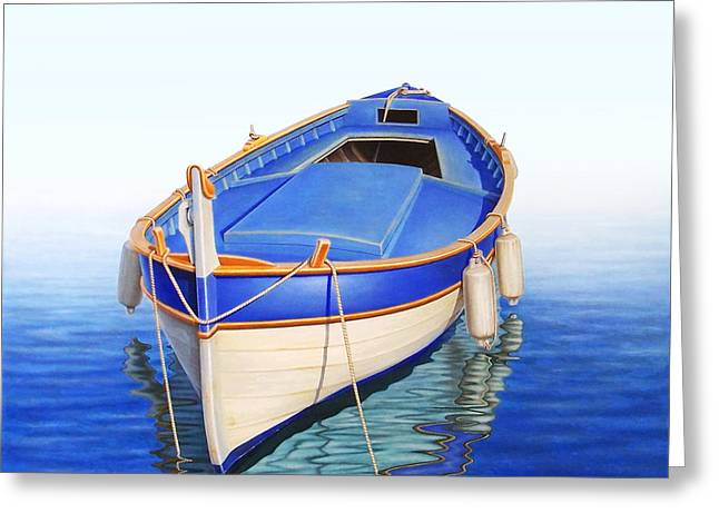 Fishing Boats Greeting Cards - Off the Mist Greeting Card by Horacio Cardozo