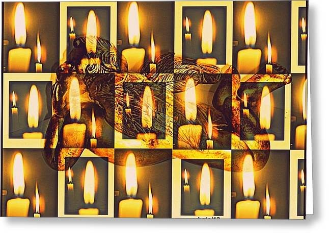 Offer Light Greeting Card by Paulo Zerbato