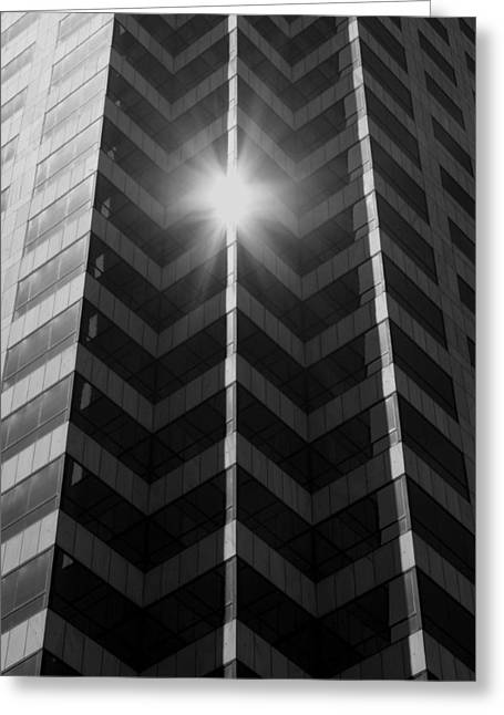 Tampa Buildings Greeting Cards - Office Art - Black and White Greeting Card by Carol Groenen