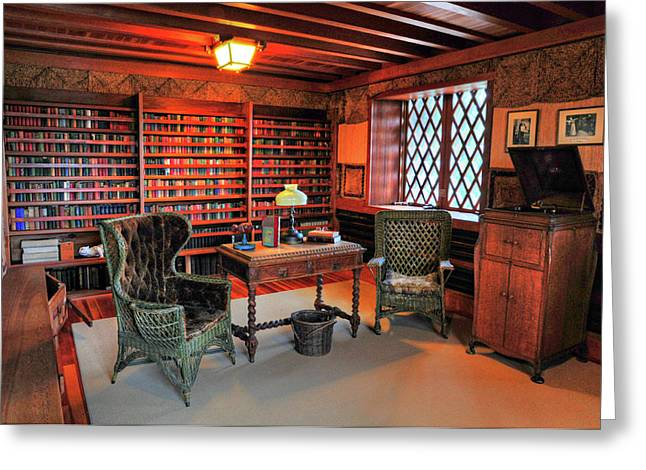 Office At Gillette Castle Greeting Card by Dave Mills