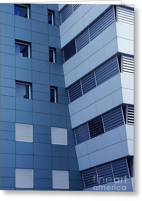 Enterprise Greeting Cards - Office Building Greeting Card by Carlos Caetano