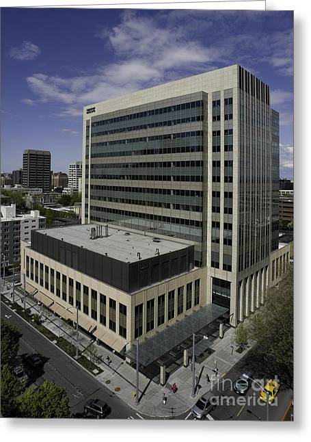 Office Building Greeting Card by Robert Pisano