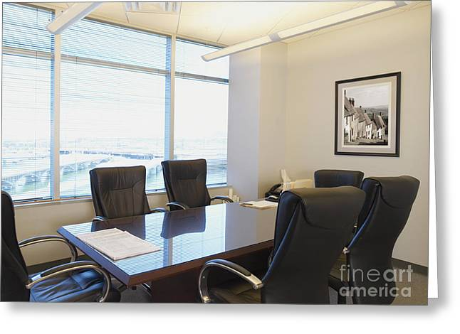 Office Space Photographs Greeting Cards - Office Meeting Room Greeting Card by Dave & Les Jacobs
