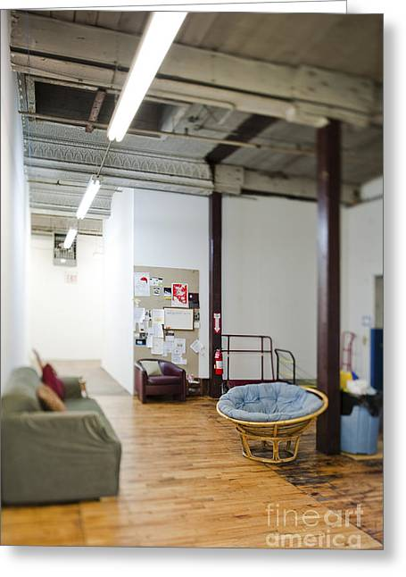 Office Space Photographs Greeting Cards - Office Waiting Area Greeting Card by Eddy Joaquim