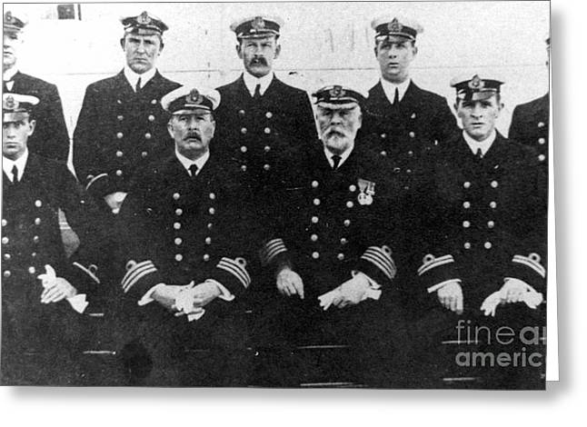 Chief Joseph Greeting Cards - Officers Of The Titanic, 1912 Greeting Card by Granger