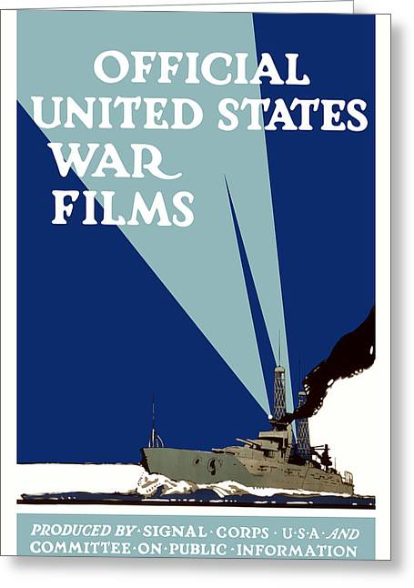 Wwi Greeting Cards - Official United States War Films Greeting Card by War Is Hell Store