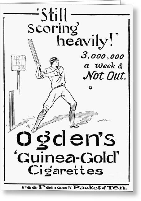 Cricketers Greeting Cards - Ogdens Cigarettes, 1897 Greeting Card by Granger