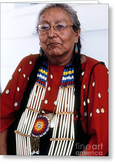 Powwow Greeting Cards - Oglala Matriarch Greeting Card by Chris  Brewington Photography LLC