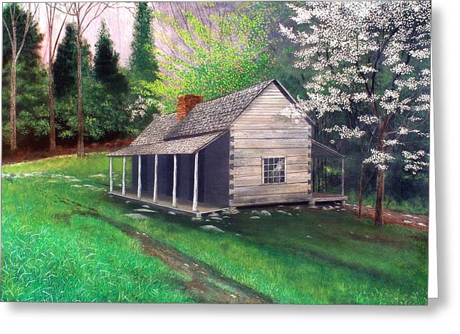 Recently Sold -  - Gatlinburg Tennessee Greeting Cards - Ogle Homestead Gatlinburg Tn Greeting Card by Herb Dickinson