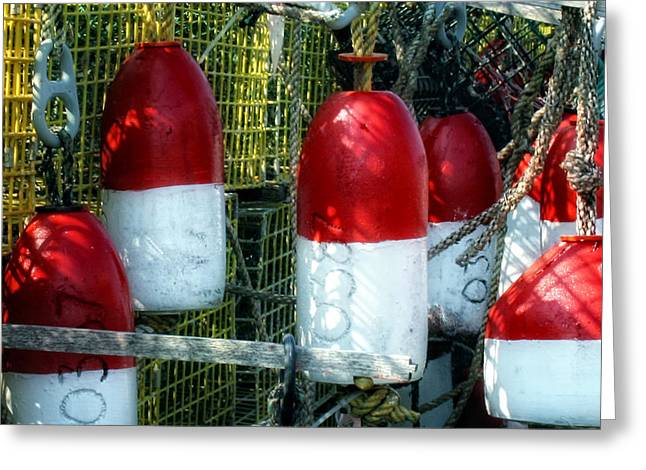 Lobster Bouys Greeting Cards - Oh Bouy Greeting Card by Gina Cormier