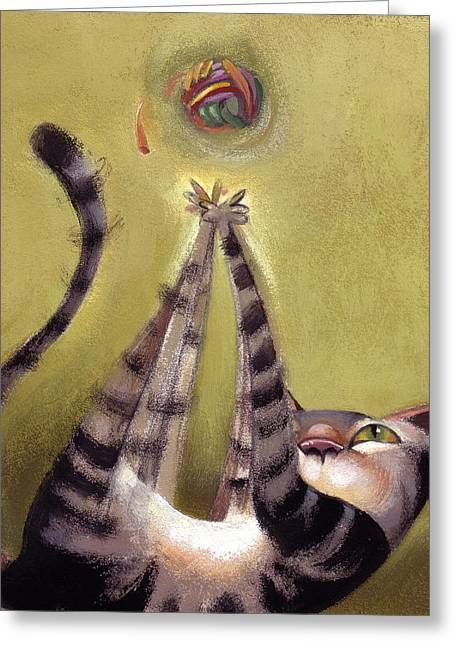 Whimsy Greeting Cards - Oh Boy Greeting Card by Barbara Hranilovich