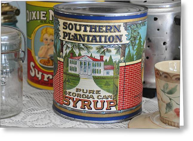 Canned Goods Greeting Cards - Oh How Southern Greeting Card by Jan Amiss Photography