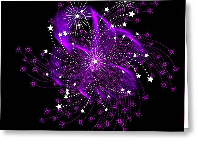 Fire Works Greeting Cards - Oh My Stars Greeting Card by Diane Schuster