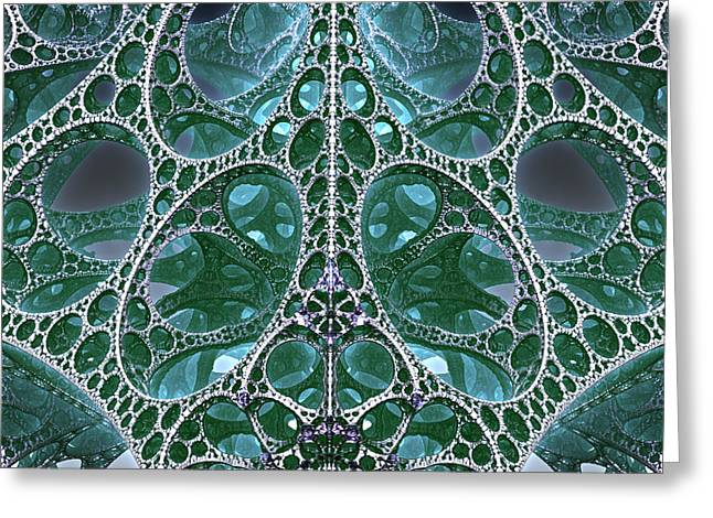 Fractal Greeting Cards Greeting Cards - Oh What A Tangled Web... Greeting Card by Charles Jr Kunkle