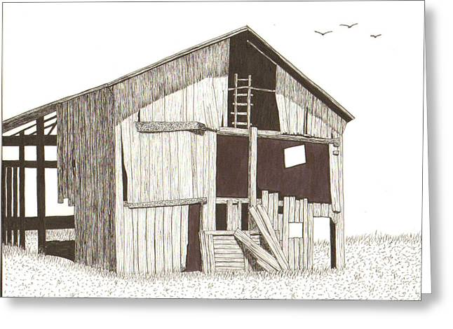Ohio Barn Greeting Card by Pat Price