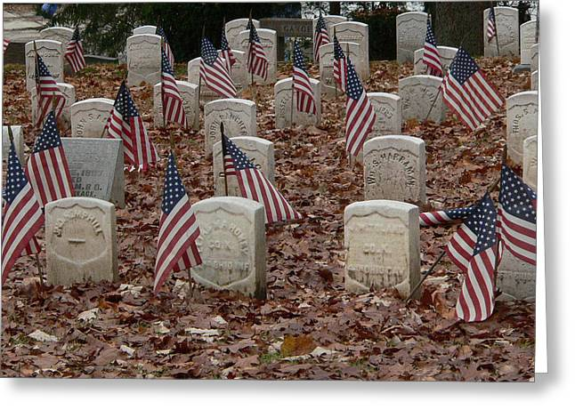 War Dead Greeting Cards - Ohio Heroes in Dayton Greeting Card by David Bearden