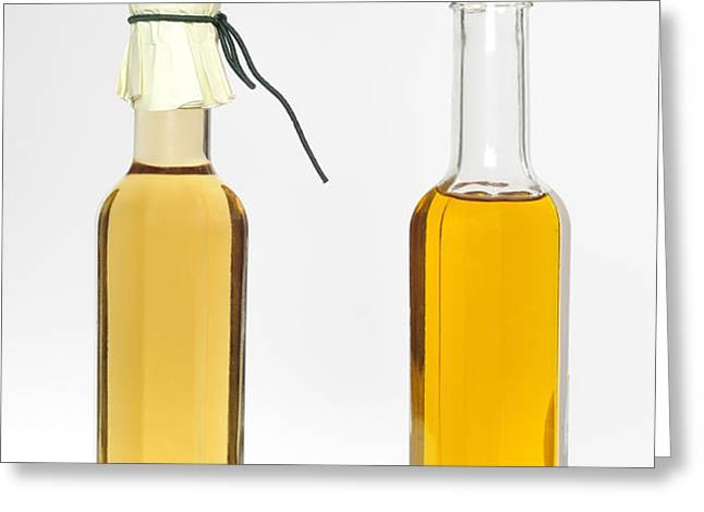 Oil and vinegar bottles Greeting Card by Matthias Hauser