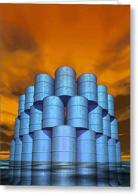 Industrial Concept Greeting Cards - Oil Crisis Greeting Card by Victor Habbick Visions