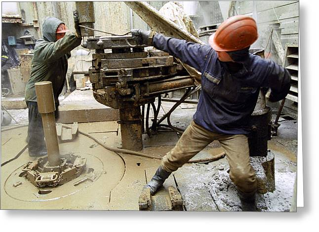 21st Greeting Cards - Oil Drill Operators Greeting Card by Ria Novosti