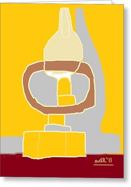 Anita Dale Livaditis Greeting Cards - Oil Lamp Greeting Card by Anita Dale Livaditis