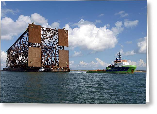 Oil Platform Greeting Cards - Oil Platform II Greeting Card by James Granberry